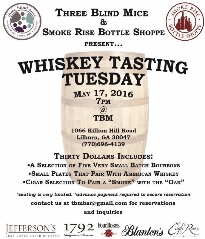 whiskey tasting tuesday ad